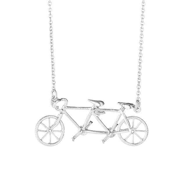 Bicycle Built for Two Necklace