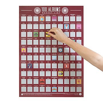 100 Albums Scratch Off Poster