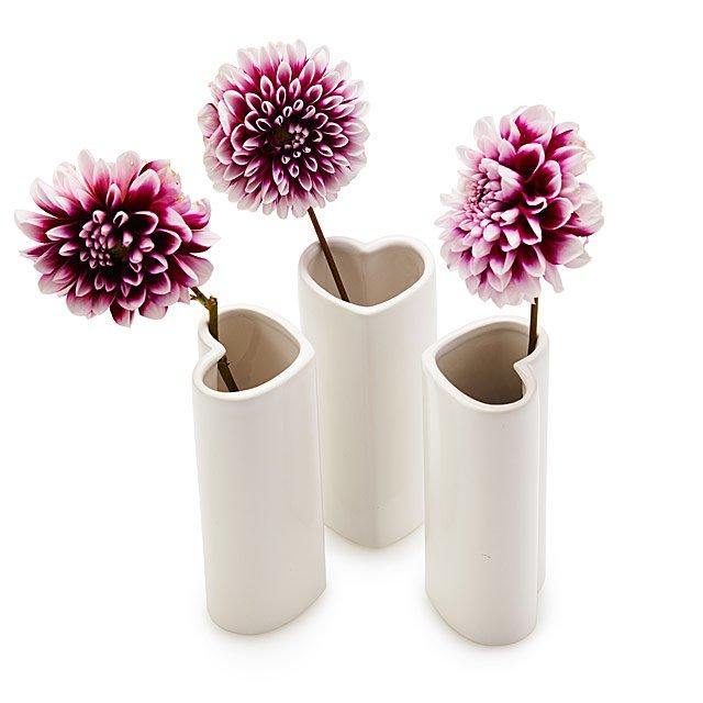 Heart Vase Trio Bud Vase Heart Shape Uncommongoods