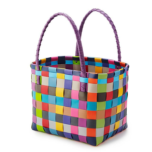 Upcycled Woven Basket Bag