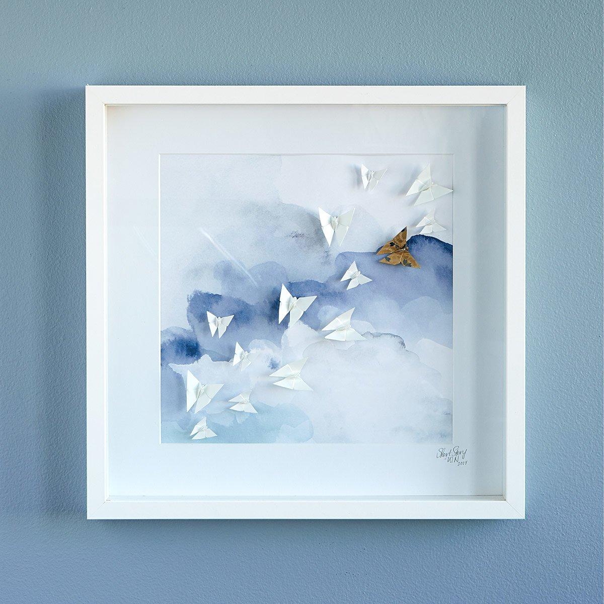 Aurora borealis sand art colored sand picture sandscape butterflies in the sky origami art jeuxipadfo Choice Image
