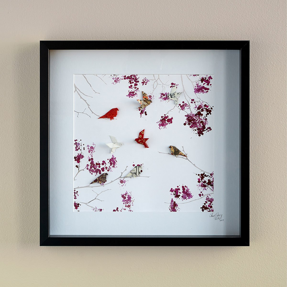 Unique wall art creative wall decor art ideas uncommongoods new cherry blossom origami art amipublicfo Images