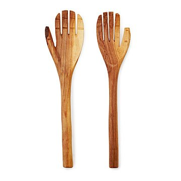Hand Carved Olive Wood Serving Set