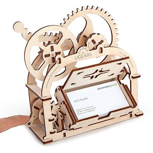 Moving Card Holder Kit Desk Accessories Laser Cut Wood