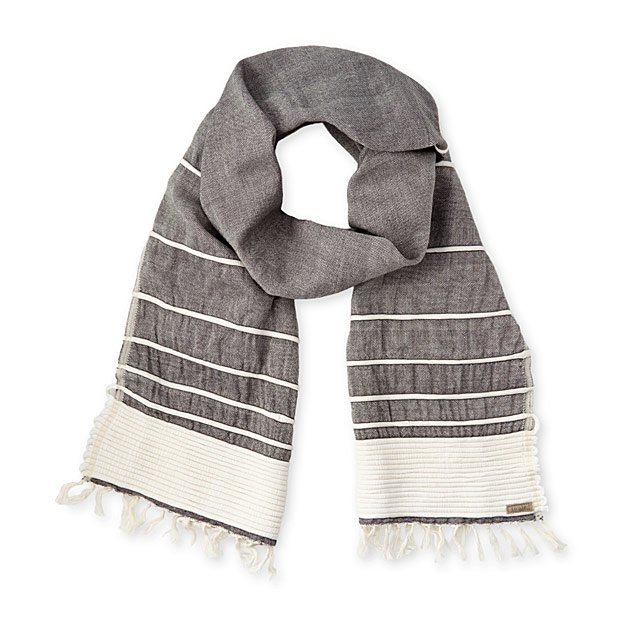 Handwoven Cotton Jersey Scarf