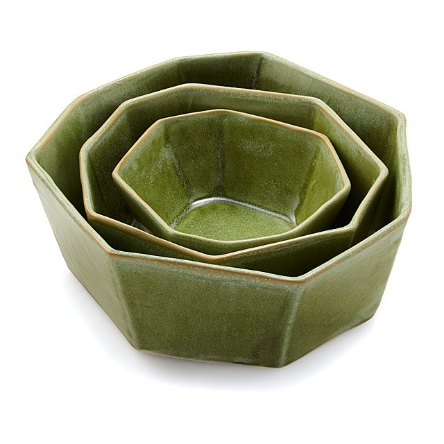 Faceted Nesting Bowl Set