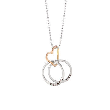 Necklaces uncommongoods customizable personalized all heart necklace aloadofball Image collections