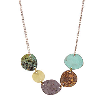 Mixed Metals Ray of Light Necklace