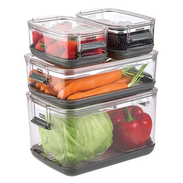 Veggie Smart Storage Containers Unique Kitchen Storage Vegetable