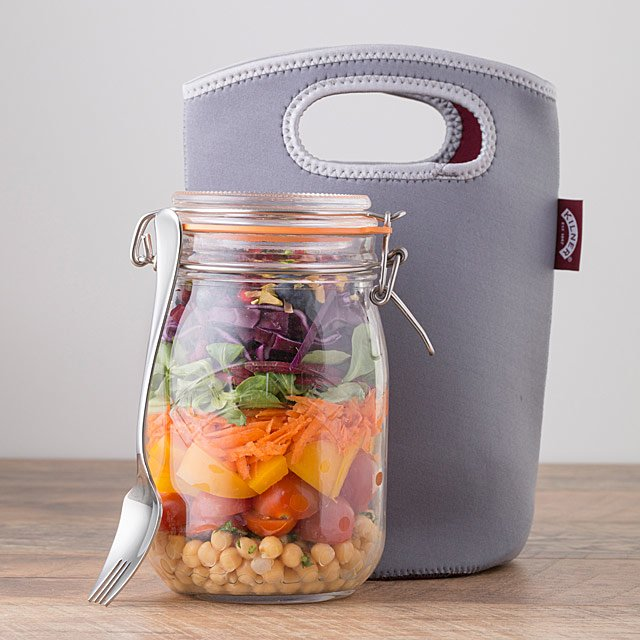 Lunch Jar with Neoprene Sleeve