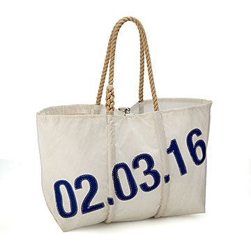 Personalized Date Sailcloth Tote