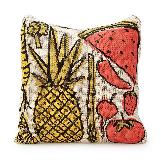 Fruits & Veggies Knit Pillow
