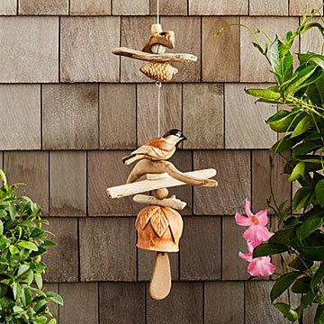 Driftwood Birdie Chime