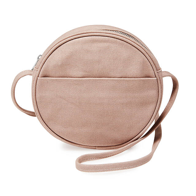 Canvas Mini Circle Purse