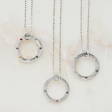 Personalized Gemstone Eternity Necklace