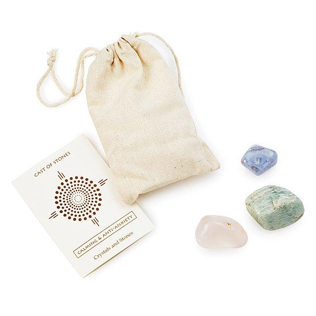 Calming Affirmation Stones   Semi Precious Stones, Blue Lace Agate