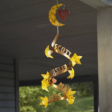 customizable stars align personalized wind sculpture