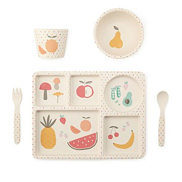 Fruits & Veggies Bamboo Dinner Set