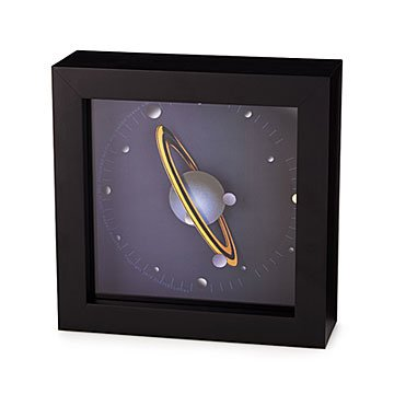 Spinning Saturn Clock