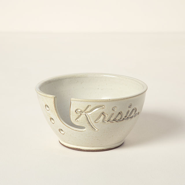 Personalized Yarn Bowl