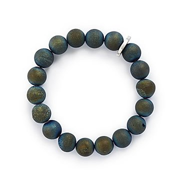 Blue Druzy Secret Message Bracelet