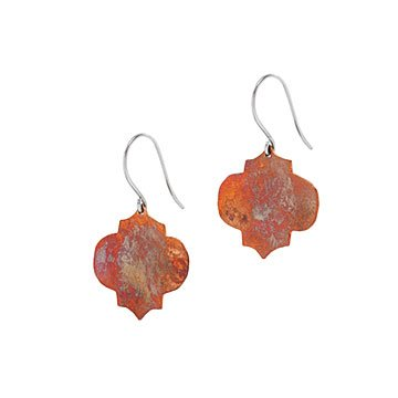 Copper Arabesque Earrings