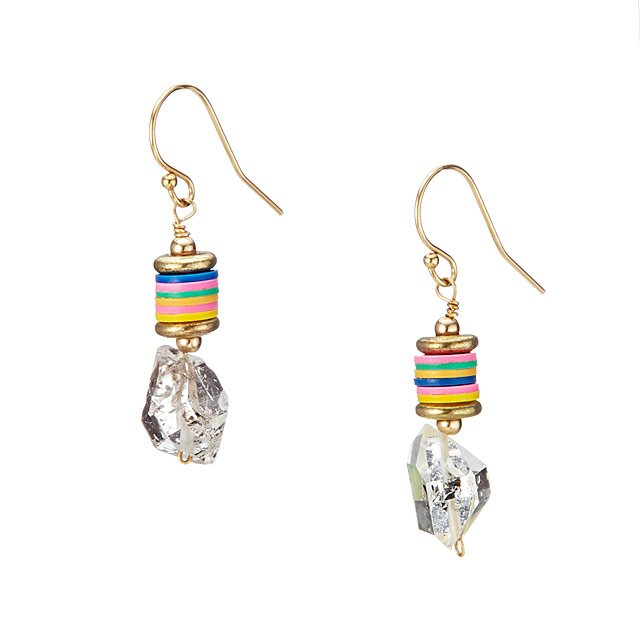 Radiant Rainbow Herkimer Earrings