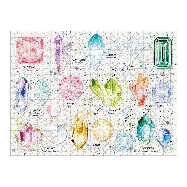 Birthstone & Zodiac Double-Sided Puzzle