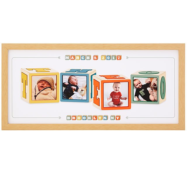 e9a257a803bc Personalized Photo   Name Block Art