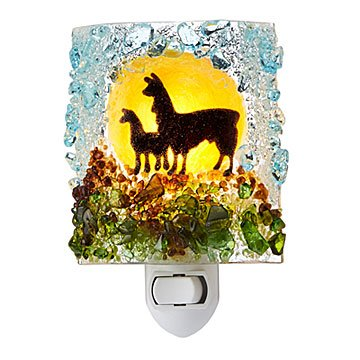 Recycled Glass Llama Nightlight