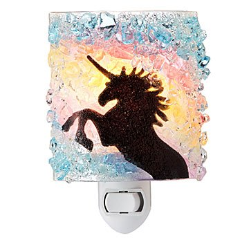 Recycled Glass Rainbow Unicorn Nightlight