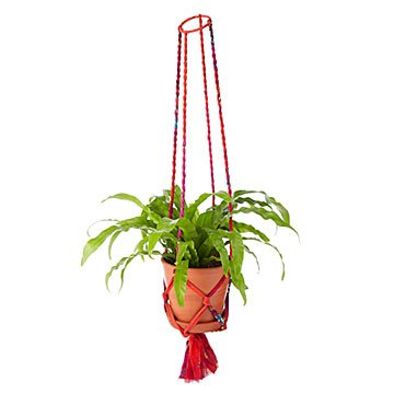 Upcycled Sari Hanging Planter