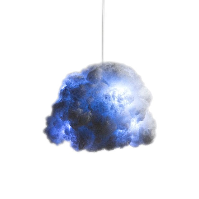 Tiny Cloud Lamp And Bluetooth Speaker by Richard Clarkson