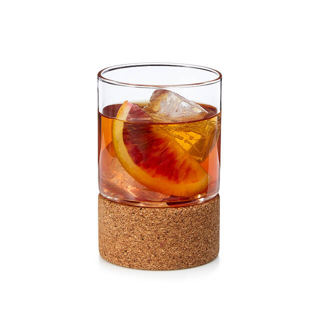 Cocktail Glass with Cork Coaster Set