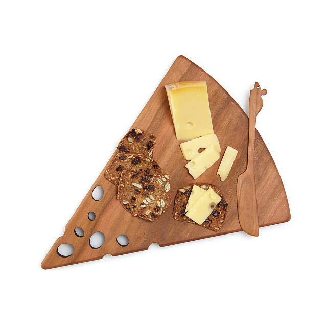 Swiss Cheese Board and Spreader