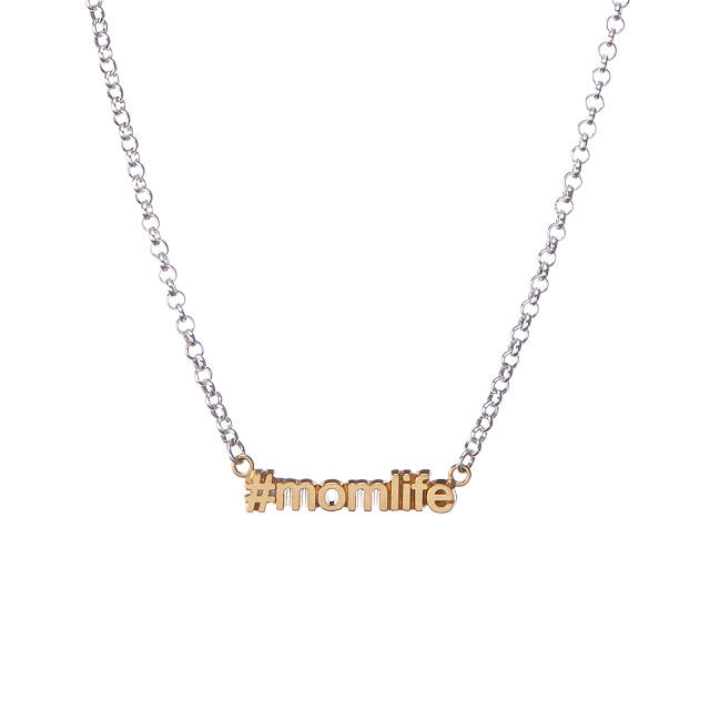 #MomLife Hashtag Necklace