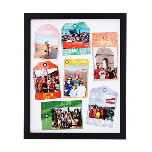 Personalized Travel Tags Photo Art: Color