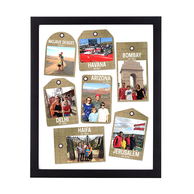 Personalized Travel Tags Photo Art: Neutral