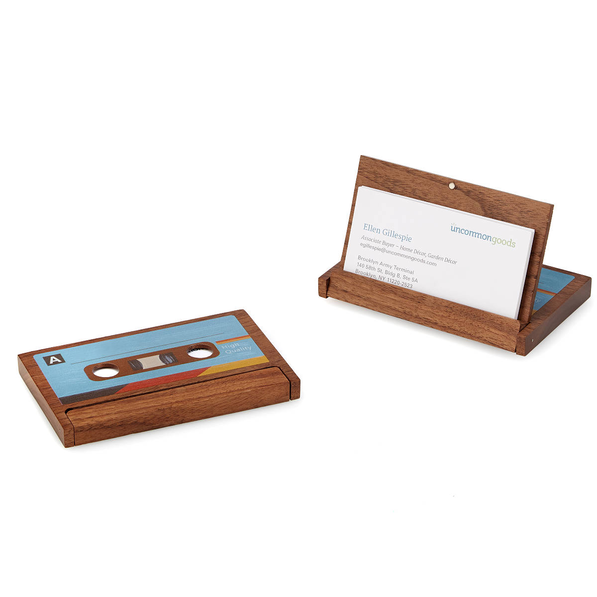 Cassette Business Card Case | Cassette Tape, Wooden Card Holder ...
