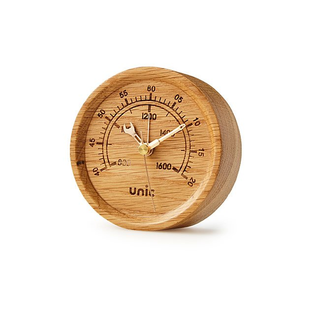 Oak Gauge Clock