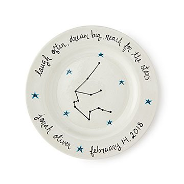 Personalized Celestial Baby Cup & Plate Set