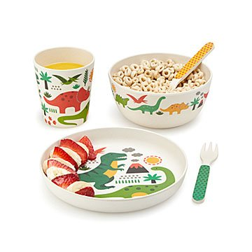 Dinosaur Bamboo Dinner Set