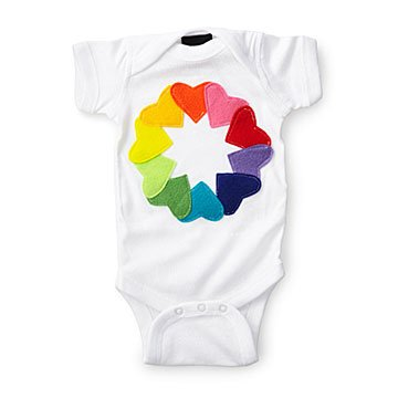 Rainbow Love Babysuit