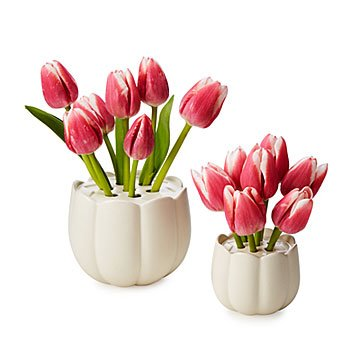 Ceramic Tulip Flower Vase