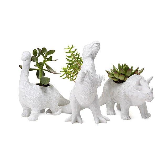 Porcelain Dinosaur Planters by Uncommon Goods