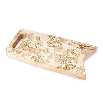 Floral Engraved Serving Board