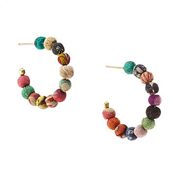 Kantha Mini Hoops