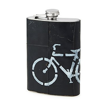 Upcycled Bike Tire Flask