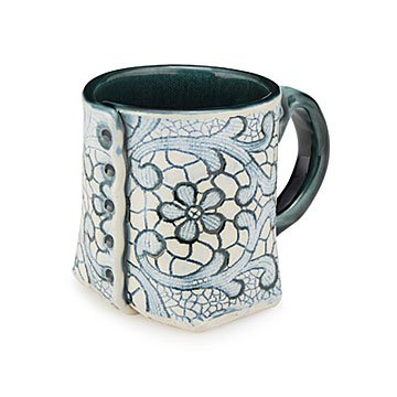Antique Lace Button Mug