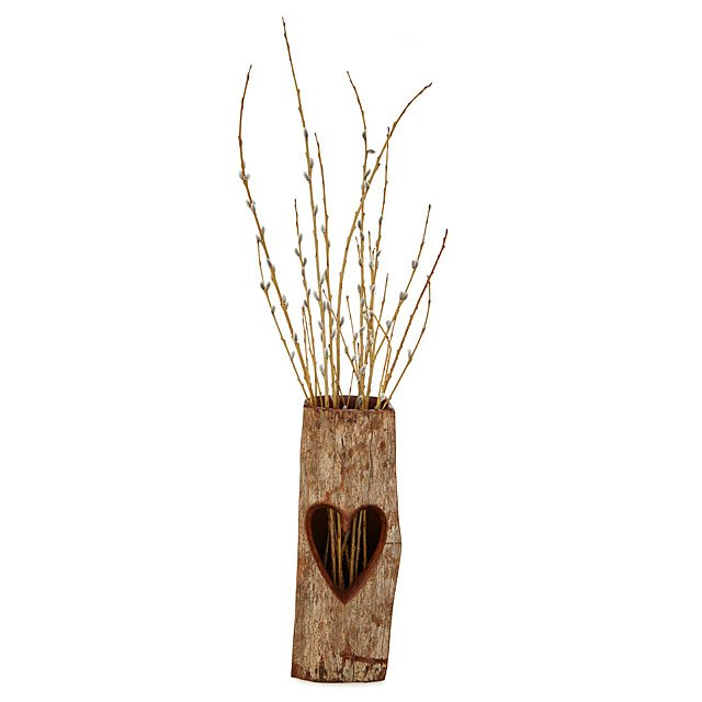 Sandalwood Heart Vase